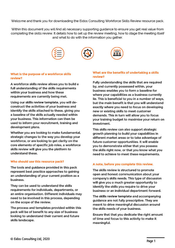 Workforce Skills Review Sample Page 2