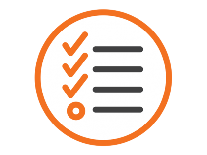 Skills planning and compliance icon