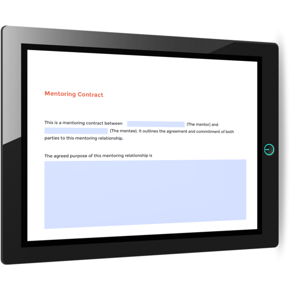 Mentoring contract