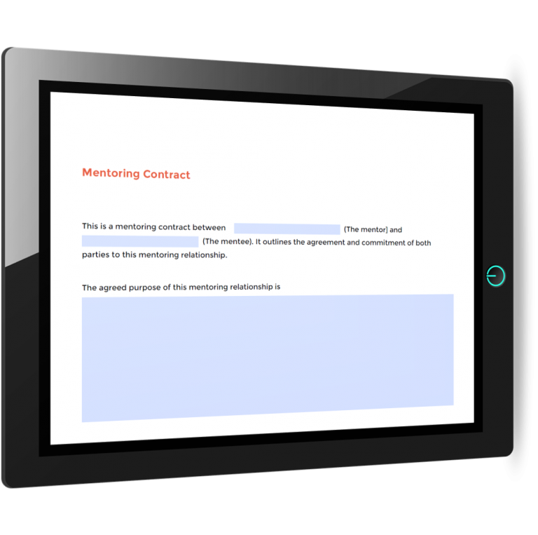 Mentoring contract template
