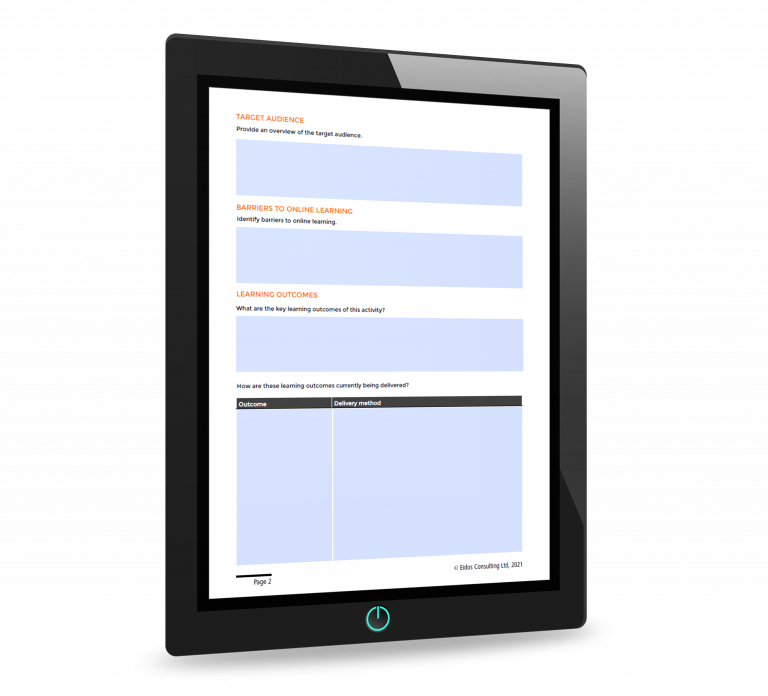 Online learning plan template